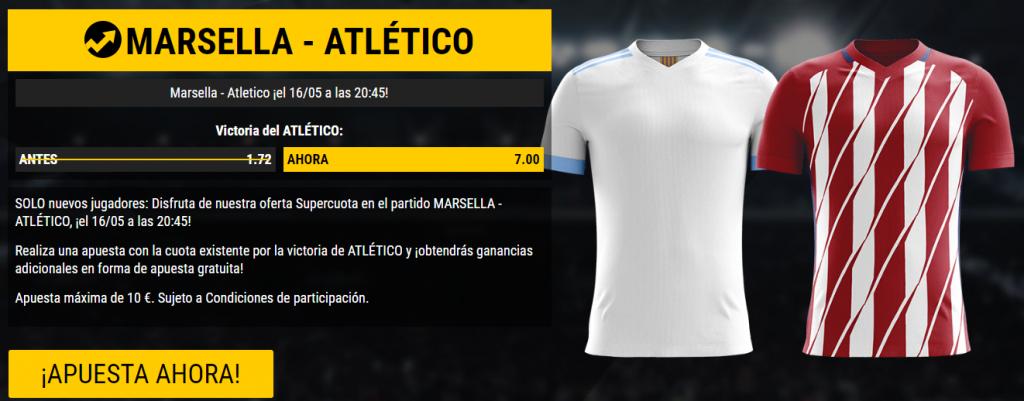 bonos de apuestas Supercuota Bwin Europa League Marsella - Atlético