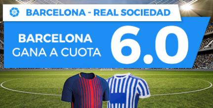bonos de apuestas Supercuota Paston la Liga Barcelona - Real Sociedad