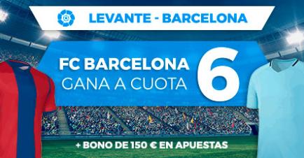 bonos de apuestas Supercuota Paston la Liga Levante - Barcelona