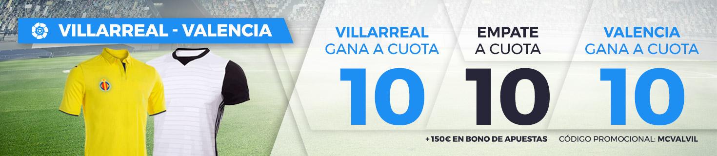 bonos de apuestas Supercuota Paston la Liga: Villareal - Valencia