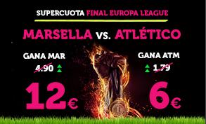bonos de apuestas Supercuota Wanabet Europa League Marsella - Atlético