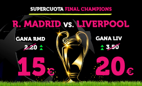 bonos de apuestas Supercuota Wanabet Final Champions R. Madrid vs Liverpool