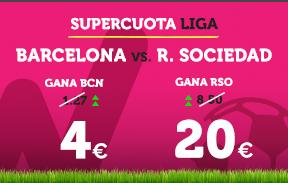 bonos de apuestas Supercuota Wanabet la Liga Barcelona vs R. Sociedad