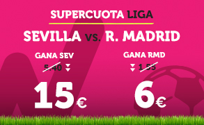 bonos de apuestas Supercuota Wanabet la Liga Sevilla vs R. Madrid