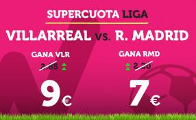 bonos de apuestas Supercuota Wanabet la Liga Villarreal vs R. Madrid