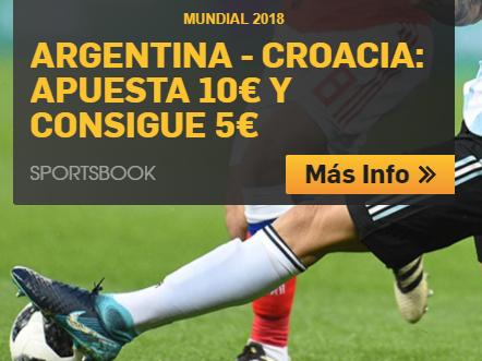 bonos de apuestas Betfair Mundial Argentina - Croacia Apuesta 10€ y consigue 5€