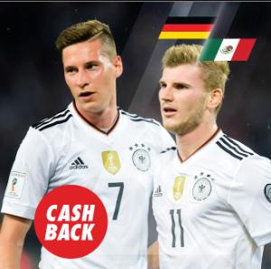 bonos de apuestas Circus Mundial Alemania vs México Cashback 15€