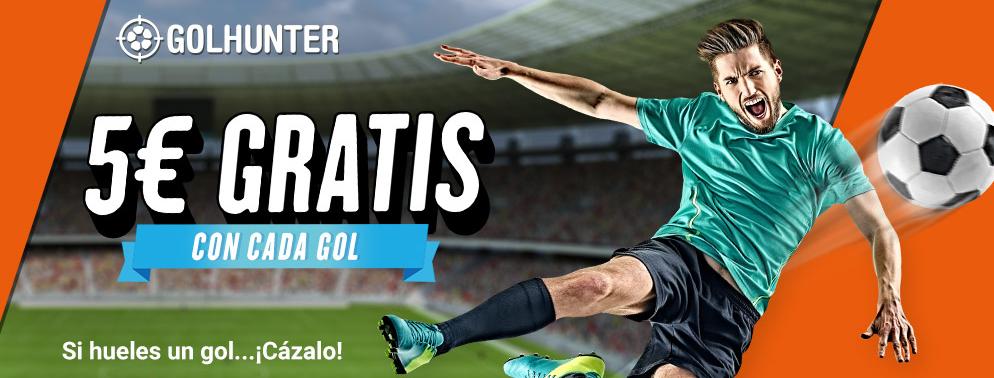 bonos de apuestas Luckia Golhunter 5€ gratis con cada gol