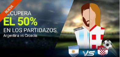 bonos de apuestas Luckia Mundial Argentina vs Croacia recupera 50%