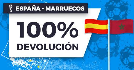 bonos de apuestas Paston España - Marruecos 100% devolución