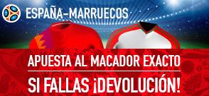 bonos de apuestas Sportium España - Marruecos Devolucion