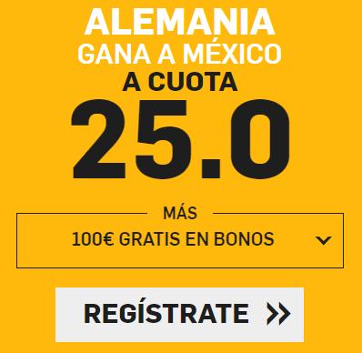 bonos de apuestas Supercuota Betfair Mundial Alemania - México