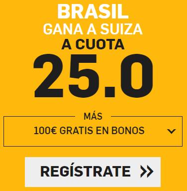 bonos de apuestas Supercuota Betfair Mundial Brasil - Suiza