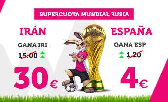 Supercuota Wanabet Mundial Iran vs España