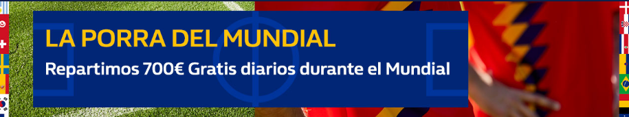 bonos de apuestas William Hill Porra del Mundial 7000€ gratis diarios!