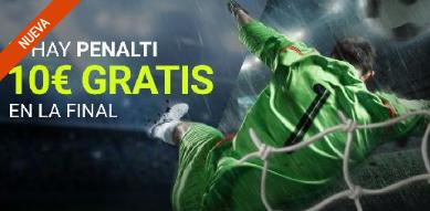 bonos de apuestas Luckia Mundial Rusia Si Hay penalti 10€ gratis en la final