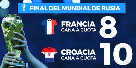 bonos de apuestas Supercuota Paston Final Mundial Rusia Francia - Croacia